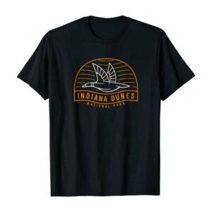 Indiana Dunes National Park Vintage Bird T Shirt