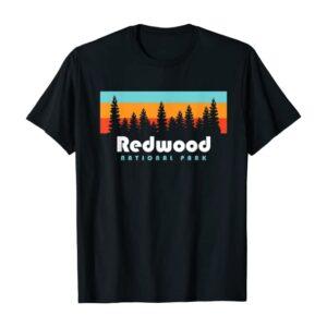 Redwood National Park California Retro Shirt