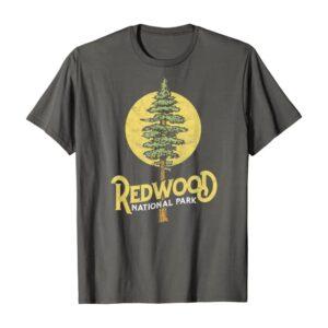 Redwood National Park Retro Distressed Tree Shirt