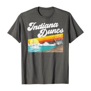 Retro Indiana Dunes National Park Sunset Shirt