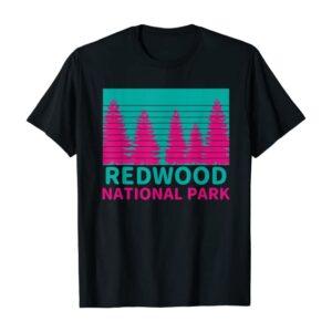 Retro Redwood National Park California Shirt