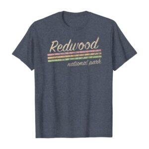 Striped Retro Redwood National Park Shirt