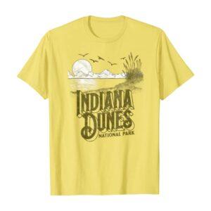 Vintage Indiana Dunes National Park Yellow Shirt