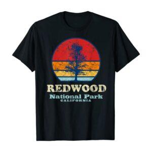 Vintage Redwood California National Park T Shirt
