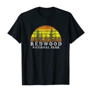 Vintage Redwood National Park Sunset Tee Shirt