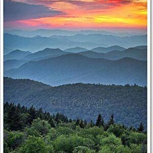 Blue Ridge Parkway Over Great Smoky Mountains Art Print