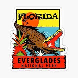 Everglades National Park Florida Vintage Travel Decal