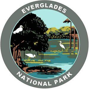 Everglades National Park Round Sticker