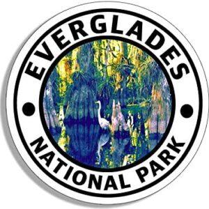 Everglades Round Sticker