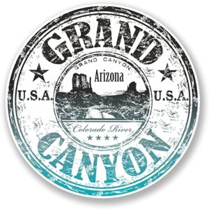 Grand Canyon Arizona Distressed Sticker Decal