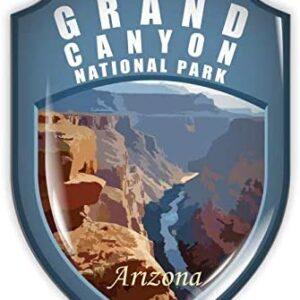 Grand Canyon Blue Shield Sticker