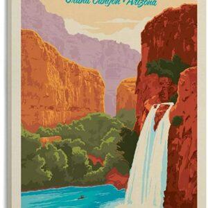 Grand Canyon Havasu Falls Travel Poster