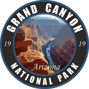 Grand Canyon National Dark Round Decal