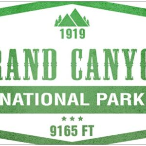 Grand Canyon National Park Green Vinyl Sticker