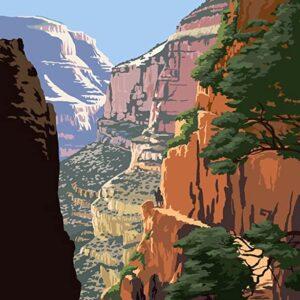Grand Canyon National Park North Kaibab Trail Print