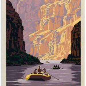 Grand Canyon Retro Rafting Travel Poster