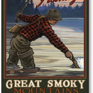 Great Smoky Mountains National Park Fly Fishing Poster