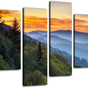 Great Smoky Mountains National Park Sunrise At Oconaluftee Wall Art