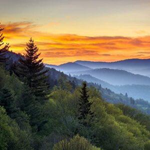Great Smoky Mountains National Park Sunrise Photo Art Print
