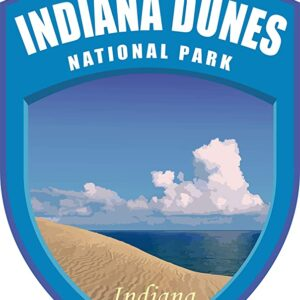 Indiana Dunes National Park Blue Shield Decal