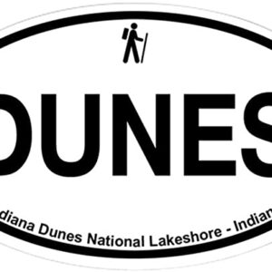 Indiana Dunes National Park Oval Sticker