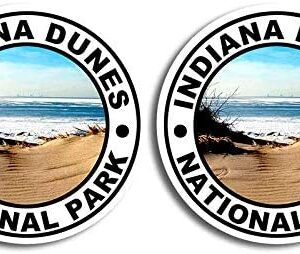 Indiana Dunes National Park Round Sticker 2 Pack