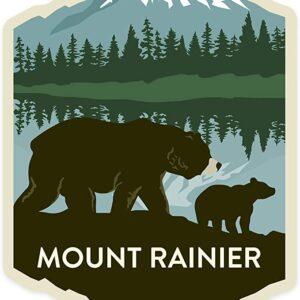 Mount Rainier Bear Sticker