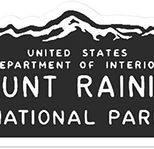 Mount Rainier Department Of The Interior Sticker