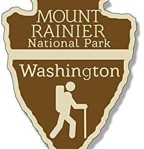 Mount Rainier National Park Arrowhead Sticker