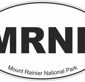Mount Rainier National Park Oval Euro Sticker