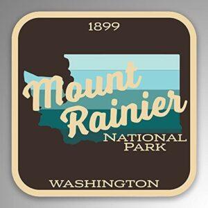 Mount Rainier National Park Vinyl Gradient Decal