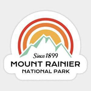 Mount Rainier Retro Sticker