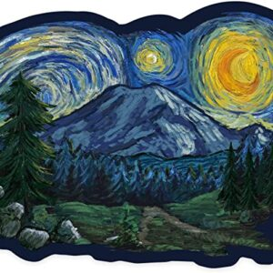 Mount Rainier Starry Night Sticker
