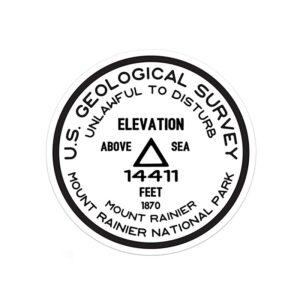 Mount Rainier Usgs Sticker
