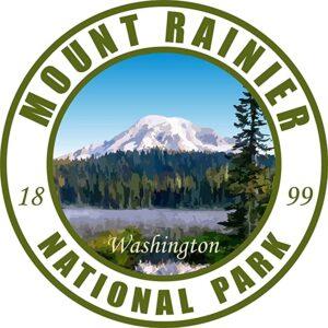 Mount Rainier Washington Green Circle Decal
