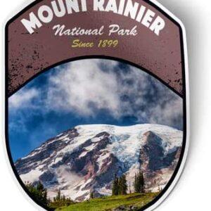 Mount Rainier Washington Vinyl Sticker