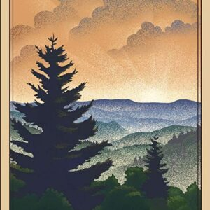 Newfound Gap Great Smoky Mountains Poster