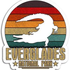Retro Everglades National Park Sticker