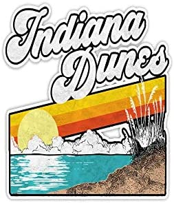 Retro Indiana Dunes National Park Sticker