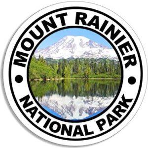 Round Mount Rainier Sticker