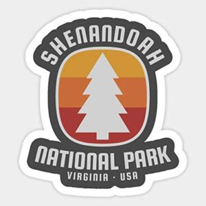 Shenandoah National Park Retro Sticker