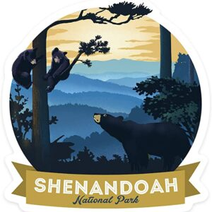 Shenandoah National Park Round Bear Decal