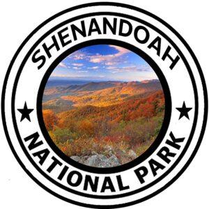 Shenandoah National Park Round Sticker