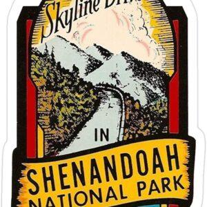 Shenandoah National Park Skyline Drive Vintage Sticker