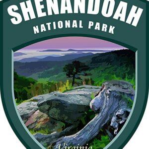 Shenandoah National Park Vinyl Shield Sticker