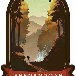 Shenandoah National Park Virginia Falls Sticker