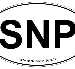 Snp Shenandoah National Park Oval Sticker