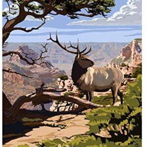 Tin Grand Canyon National Park Arizona Elk Poster