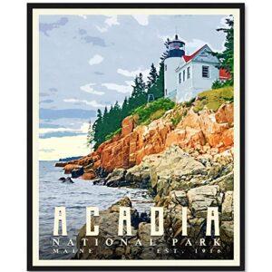 Acadia National Park Bar Harbor Poster