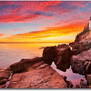 Acadia National Park Bass Harbor Head Lighthouse Art Print